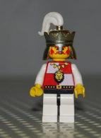 Lego Personnage Royal Avec Casque Plume Jambe Blanche Et Noire Ref Cas059 - Lego Technic