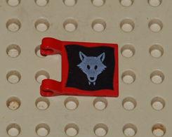 Lego Flag Drapeau Loup 2x2 Printed Ref 2335p44 - Lego Technic
