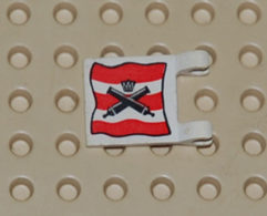 Lego Flag Drapeau 2x2 Canon Et Couronne Printed Ref 2335pb003 - Lego Technic