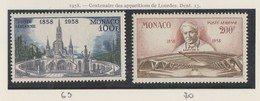 Monaco Poste Aérienne N° 69 Et 70 ** La Série De 2 Valeurs - Luftfahrt