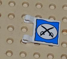 Lego Drapeau 2 X 2 Carrés à Motif De Coupoles Ovales Et Deux Epees Ref 2335px4 - Lego Technic