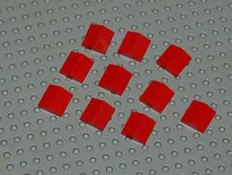Lego Lot 10 X Slope Tuile Rouge Pente 33 Double 2x2 Ref 3300 - Lego Technic