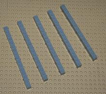 Lego Lot 5 X Brique Grise 1x16 Ref 2465 - Lego Technic