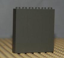Lego Panneau Brique 1x6x5 Gris Fonce Ref 3754 - Lego Technic