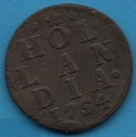 HOLLANDIA 1 DUIT 1754 KM# 80 LION - [ 1] …-1795 : Former Period