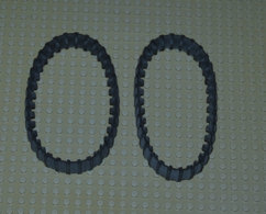 Lego Lot 2 Chenilles 34 Dents Ref 680c01 - Lego Technic