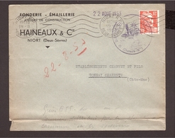 GRÈVE 1953 DEUX-SÈVRES, Gandon 12frs Mairie Niort - Strike Stamps
