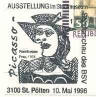 7218  Picasso: Oblit. Temp. D'Autriche, 1996 -  Modern Art Special Cancel From Austria - Picasso