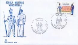 """Italia 1987 FDC CAPITOLIUM 200° Anniversario Fondazione Della Scuola Militare Di Napoli """"Nunziatella"""" - Militaria"""