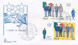 Italia 1986 FDC CAPITOLIUM Incontro Europeo Dei Corpi Di Polizia A Chianciano Terme - Polizia – Gendarmeria