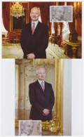 Liechtenstein 2015 - 2 Cartes Maximum - Familles Royales - Série Complète (lie246) - Cartes-Maximum (CM)