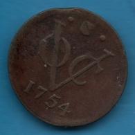 NEDERLANDSCH INDIE VOC 1 DUIT 1754 Utrecht KM# 112  Vereenigde Oost-Indische Compagnie - Dutch East Indies