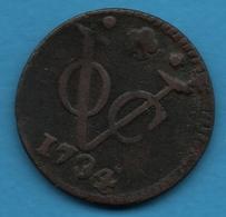 NEDERLANDSCH INDIE VOC 1 DUIT 1734 KM# 70  Vereenigde Oost-Indische Compagnie - [ 4] Colonies