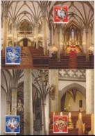 Liechtenstein 2015 - 4 Cartes Maximum - Eglises Et Cathédrales - Série Complète (lie243) - Cartes-Maximum (CM)