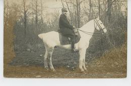 BERGERAC - MILITARIA - Belle Carte Photo Portrait Du Commandant Picquet Damesme Sur Son Cheval Bob âgé De 22 Ans En 1912 - Bergerac