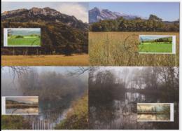 Liechtenstein 2015 - 4 Cartes Maximum - Paysages - Série Complète (lie244) - Cartes-Maximum (CM)