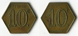 N93-0520 - Monnaie De Nécessité - A Localiser - Pleutin - 10 Centimes - Monetary / Of Necessity