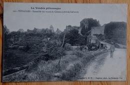 85 : Tiffauges - Ensemble Des Ruines Du Château (côté Du Calvaire) - Animée : Petite Animation - (n°13326) - Andere Gemeenten