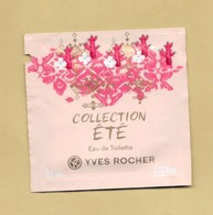 POCHETTE ECHANTILLON SACHET POCKET COLLECTION ETE * YVES ROCHER - Perfume Cards