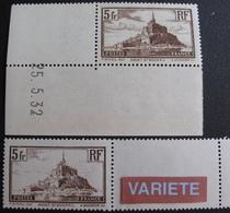R1692/49 - 1929 - MONT SAINT MICHEL - N°260 BdF NEUF** + N°260a CdF NEUF** - Cote : 95,00 € - France