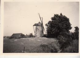 Le Moulin à Vent De Sart-Risbart - Verdwenen Windmolen - Photo Format 6 X 9 Cm - Lieux