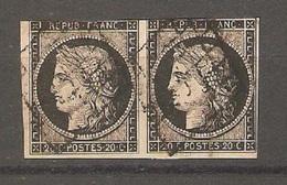 Timbre De 1849/50 ( France / Une Paire ,Cérès N°3 ) - 1849-1850 Cérès