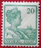 20 Ct Koningin Wilhelmina NVPH 120 1914 1913-1932 Ongebruikt / MH INDIE / DUTCH INDIES - Niederländisch-Indien