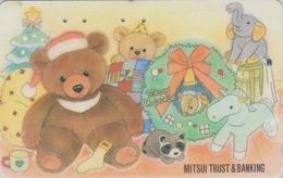 Télécarte Japon / 110-011 - Ours NOUNOURS ELEPHANT Cochon Pig NOEL CHRISTMAS - TEDDY BEAR Japan Phonecard 625 - Télécartes