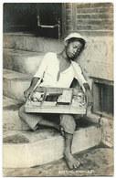 RPPC Philippines Child Cigarette Vendor Sleeping On Stairs Manila Real Photo Postcard 1908-1923 - Philippines