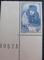 R1692/46 - 1940 - GUYNEMER - N°461c CdF NEUF** - VARIETE ➤ PAPIER EPAIS - Cote : 25,00 € - Unused Stamps