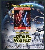 Madagascar 2018 CTO Star Wars Last Jedi Luke Skywalker Rey Kylo Ren Finn 1v M/S Movies Stamps - Disney
