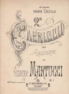 Spartito CAPRICCIO Per Pianoforte GIUSEPPE MARTUCCI - G. RICORDI & C. - Colella - Spartiti