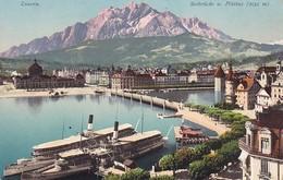 AK Luzern - Seebrücke M. Pilatus  (36928) - LU Luzern