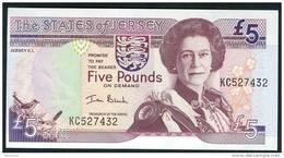 JERSEY  :  5 Pounds - P27 - 2000 -  UNC - Jersey