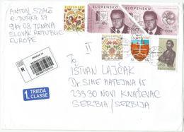 Slovakia 2018. International Registered Letter,cover - Slovakia