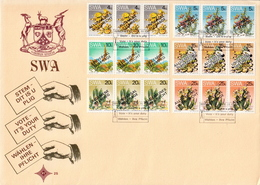 SWA Overprinted Set On FDC - Cactusses