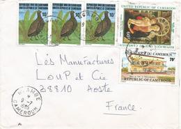 Cameroun Cameroon 1985 Ngambe Pintade Guinea Fowl Madonna Mantegna Townhall Cover - Kameroen (1960-...)