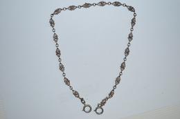 Chaîne De Montre Argent Ancienne 12.97g - Necklaces/Chains