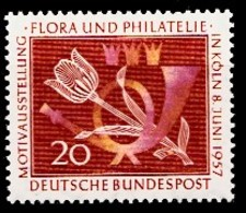 Allemagne Rep.Fed. 1957  Mi.:nr. 254 Briefmarkenausstellung  Neuf Sans Charniere / Mnh / Postfris - [7] Federal Republic