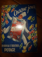 Vers 1930 Carton Publicitaire LES POTAGES DU CHEF --> Consommé De Poulet Pour 2 Personnes En Un Instant :dim 31 X 23cm - Targhe Di Cartone
