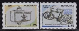 Honduras, Series 140th Anniversary Of The National Mail, Mailbox, Bicycle, New Issue 2017 (2018), MNH - Honduras
