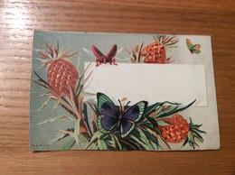 Marque-place Ch. D PARIS « Ananas, Papillon, Insecte » - Menus