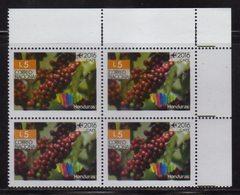 Honduras, Coffee Fruit Stamp, Brand Country Series, Block Of 4, 2016, MNH - Honduras