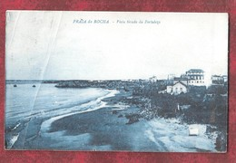 PORTUGAL CREASED + STAMP PRAIA DA ROCHA VISTA PARCIAL ALGARVE VISTA TIRADA DA FORTALEZA - Faro