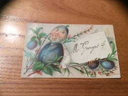 Marque-place « Mr Georges L. (Prune)» - Menus