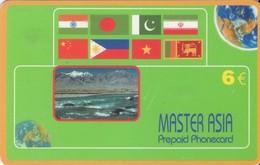 TARJETA TELEFONICA DE ESPAÑA, (PREPAGO). MASTER ASIA, BANDERAS, 6E. (460). - Espacio