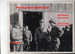 Photographie Originale  Reddition Allemande Paris Genral Leclerc General Choltiz 25 Août 1944 - 1939-45