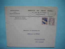 ENVELOPPE PUBLICITAIRE   - Service Du Génie Rural  -  Rue De La Pleau  -  31  -  TOULOUSE  -  Haute Garonne - 1965 - Marcophilie (Lettres)