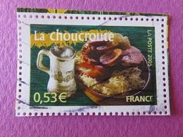 Timbre France YT 3774 - Portraits De Régions - La France à Vivre - La Choucroute - 2005 - Used Stamps