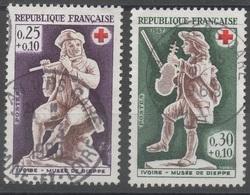 FRANCE  1967  CROIX ROUGE   N° YT  YT 1400 & 1401    IVOIRE - Musée De Dieppe - Oblitérés